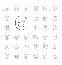 33 cheerful icons vector