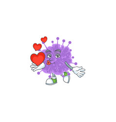 A romantic coronavirus influenza with a heart vector