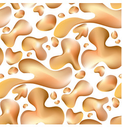 Abstract liquid gold seamless pattern vector