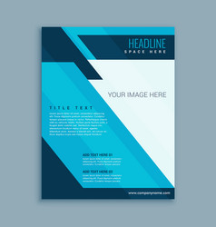 Abstract modern business brochure vector