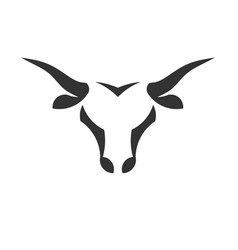 Abstract simple bull head logo concept vector