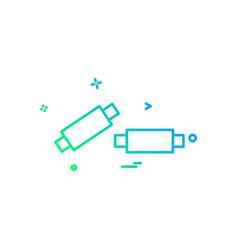 Bails cricket sport wicket icon design vector