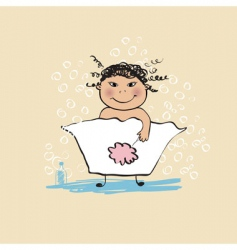bathing vector image