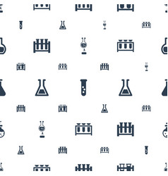 Beaker icons pattern seamless white background vector