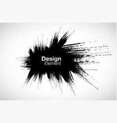 black brush stroke stain texture background in vector image