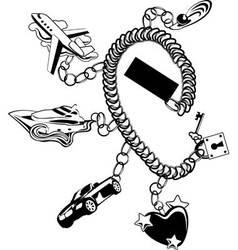 bracelet vector image