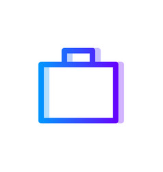 briefcase blue purple gradient icon portfolio vector image