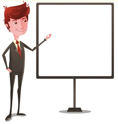 Businessman on Presentation vector