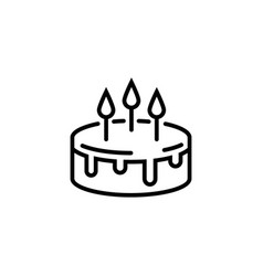 Cake line icon isolated on a white background pie vector