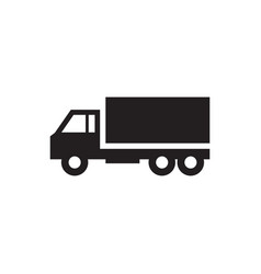 car truck - icon on white vector image