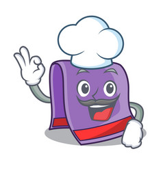 Chef cartoon home kitchen towel vector