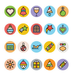 Christmas Icons 7 vector image