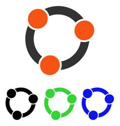 Collaboration flat icon vector
