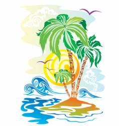 color island vector image