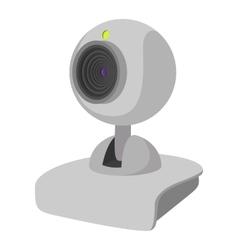 Computer web cam cartoon icon vector image