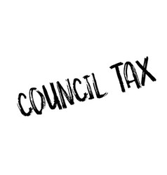 council tax rubber stamp vector image
