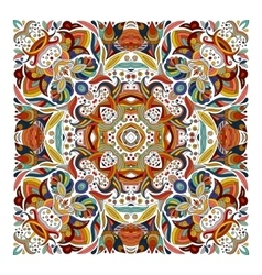 Design for square pocket shawl textile vector