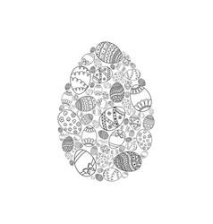 Easter invitation card of egg shape vector