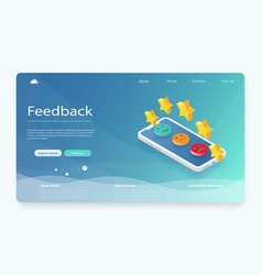 feedback reputation and quality concept vector image
