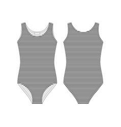 Female bodysuit technical sketch body underwear vector