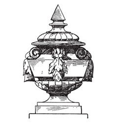Finial modern french vase or doorposts vintage vector