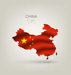 flag china as a country vector image