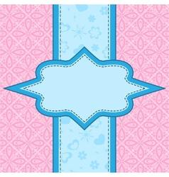 Frame over floral background vector image