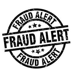 Fraud alert round grunge black stamp vector