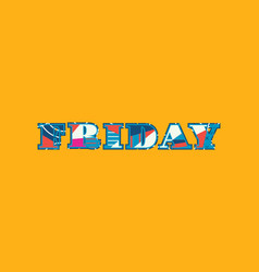 Friday concept word art vector