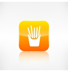 Fried potatoes icon Application button vector image vector image