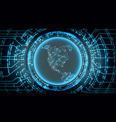 Future technology cyber concept background north vector