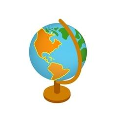 Globe isometric 3d icon vector