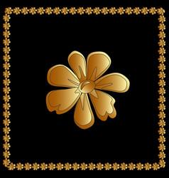 golden of flower floral element for vector image