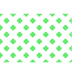 green four-leaf clover pattern for st patrick day vector image