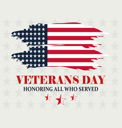 happy veterans day honoring all who served vector image