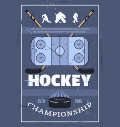 ice hockey championship sport game vector image