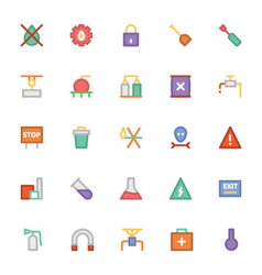 Industrial Colored Icons 6 vector image
