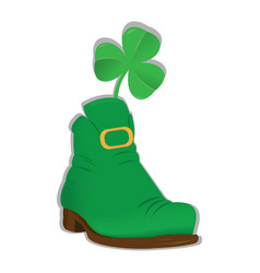 irish elf shoe vector image