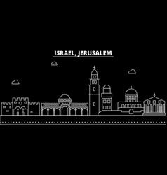 Jerusalim silhouette skyline israel - jerusalim vector