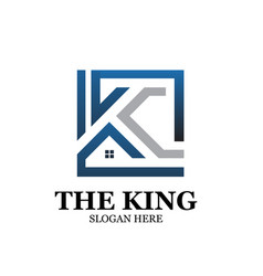 king real estate logo designs simple vector image