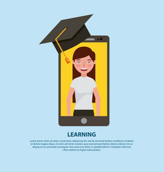 Learning online education vector