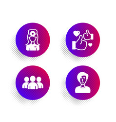 Like group and oculist doctor icons set vector