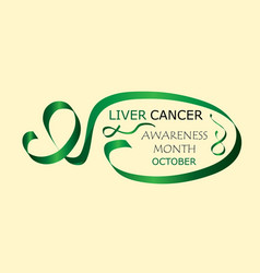 Liver cancer awareness month is organised in vector