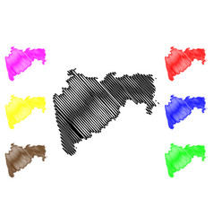 maharashtra map vector image