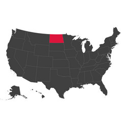 map of usa - north dakota vector image