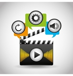 mobile media player icons vector image