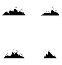 mountain icon set vector image