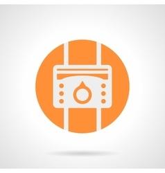 Orange heat regulator round icon vector image