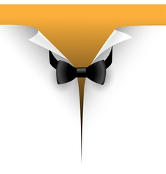 paper with a bow tie vector image