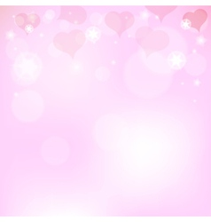 Pink background with hearts for Valentines Day vector image